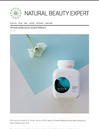 The Natural Beauty Expert May 2017 featuring Zilch Acne Formula